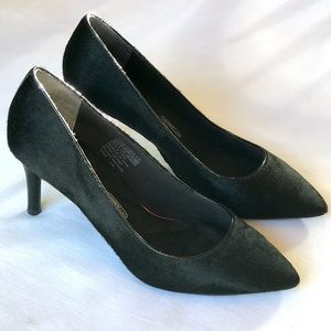 Rockport Walkability Awesome Black Mohair Heels
